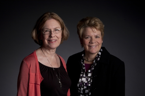 Margaret Brouwer and conductor Marin Alsop at Cabrillo, 2011
