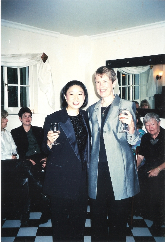Brouwer with Apo Hsu after Women's Symphony premiere