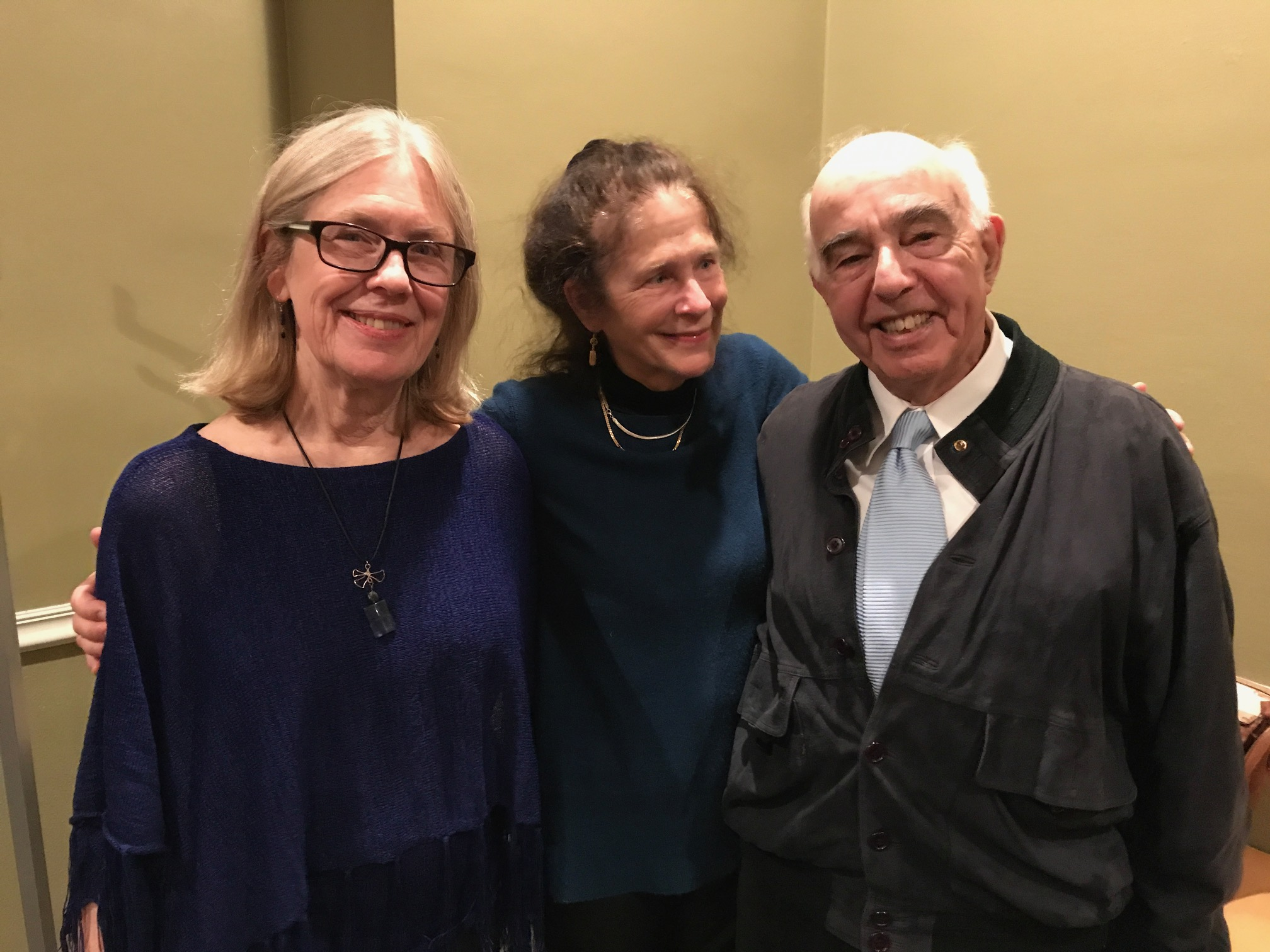 with Yehudi Wyner and Susan Davenny-Wyner after a Blue Streak Ensemble performance on the Vanguard Series and Kent State University