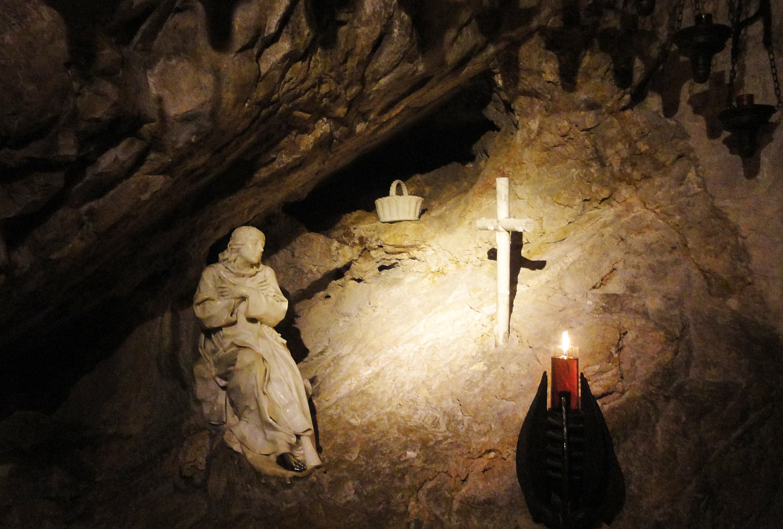 Sacro Speco , Subiaco  — The cave in which Saint Benedict lived