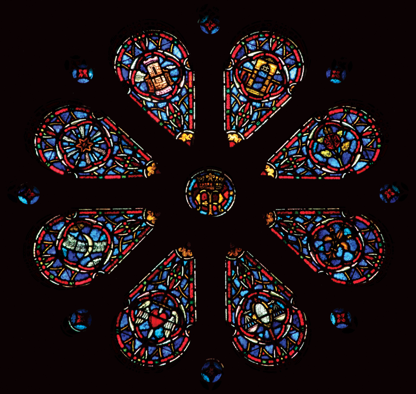 Marian Wheel Window of the Choir Chapel