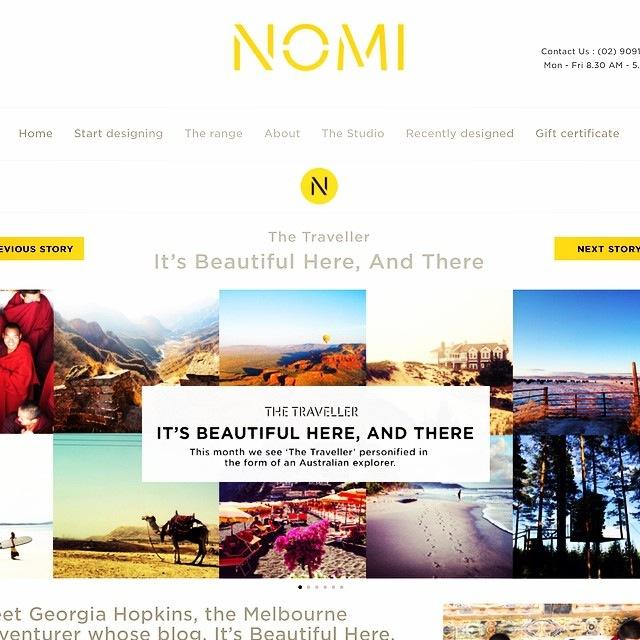 NOMI Blog |  The Traveller  | October 2014.
