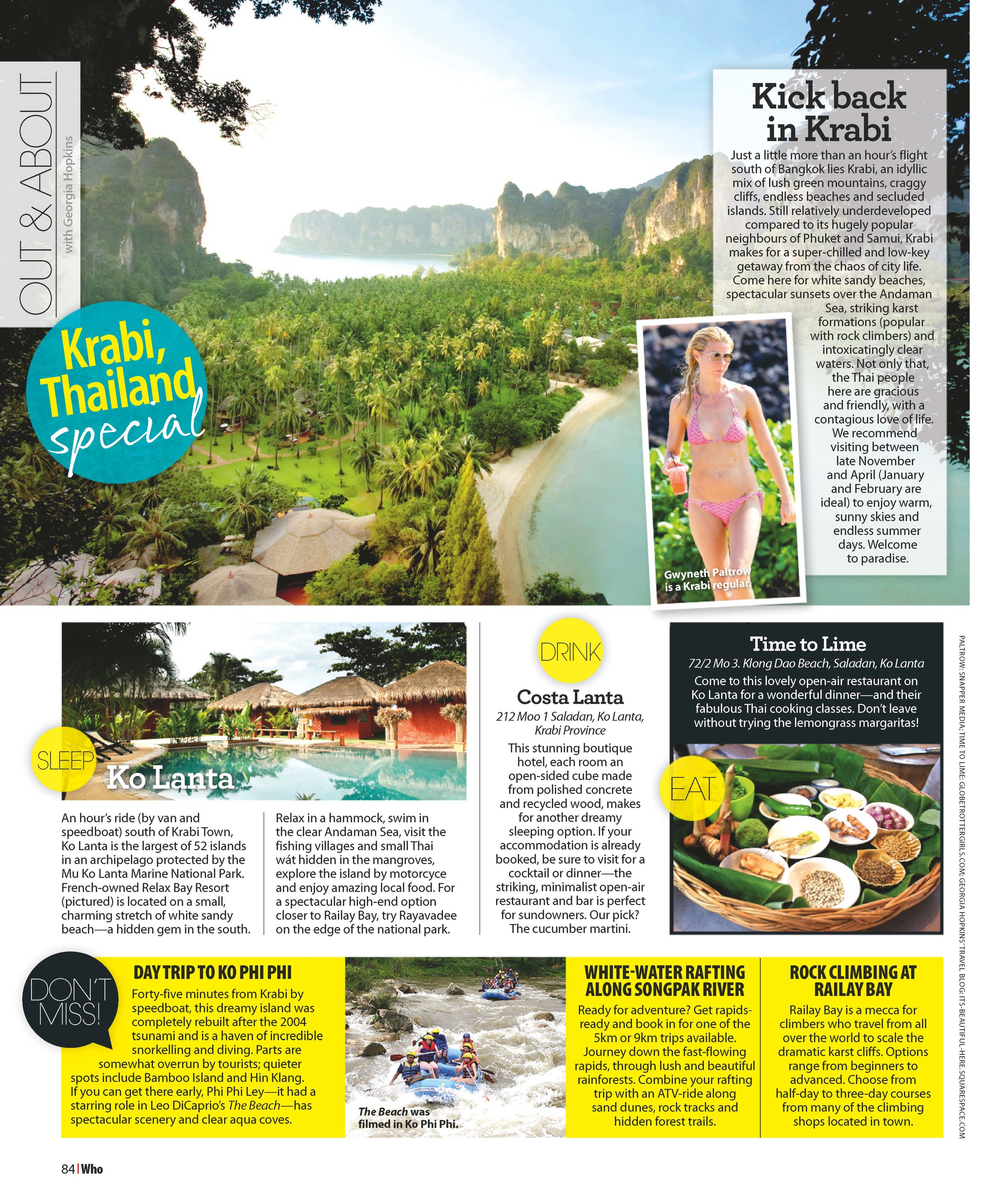 WHO Magazine Australia | Out&About - Krabi | August 2014.
