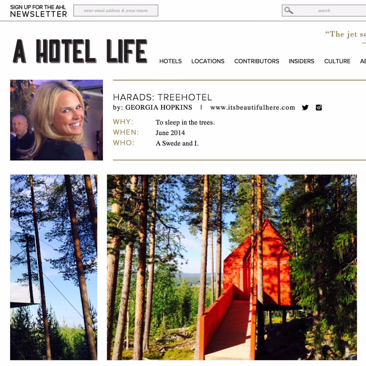 a hotel life  | treehotel, sweden | november 2014.