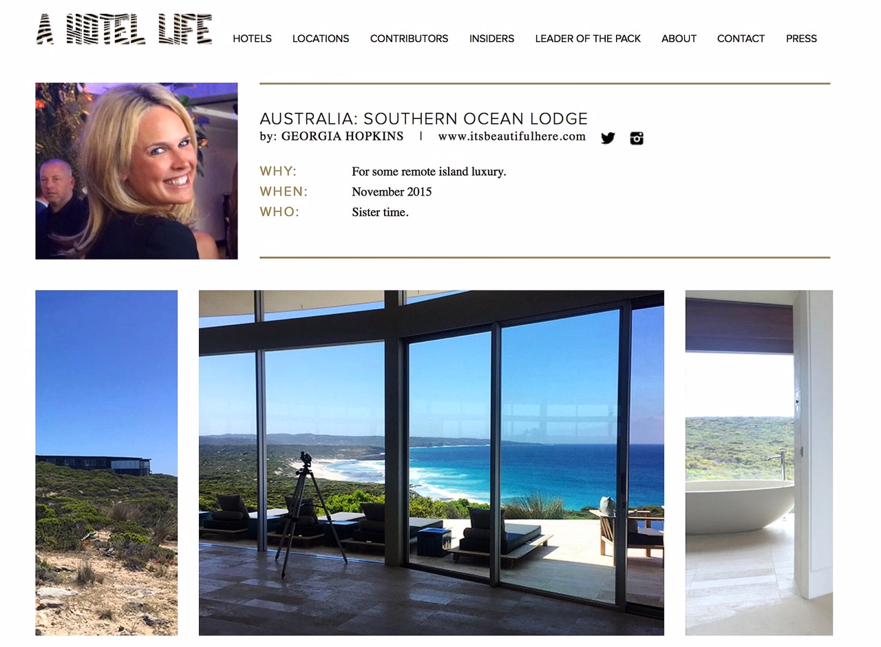 a hotel life |  southern ocean lodge  | november 2015.