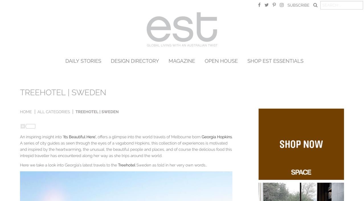 est. living |  the treehotel, sweden .