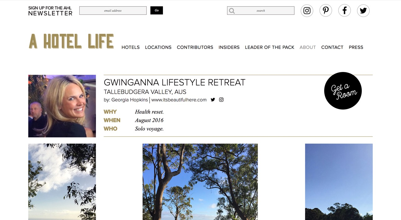 A Hotel Life |  Gwinganna Lifestyle Retreat  | August 2016.