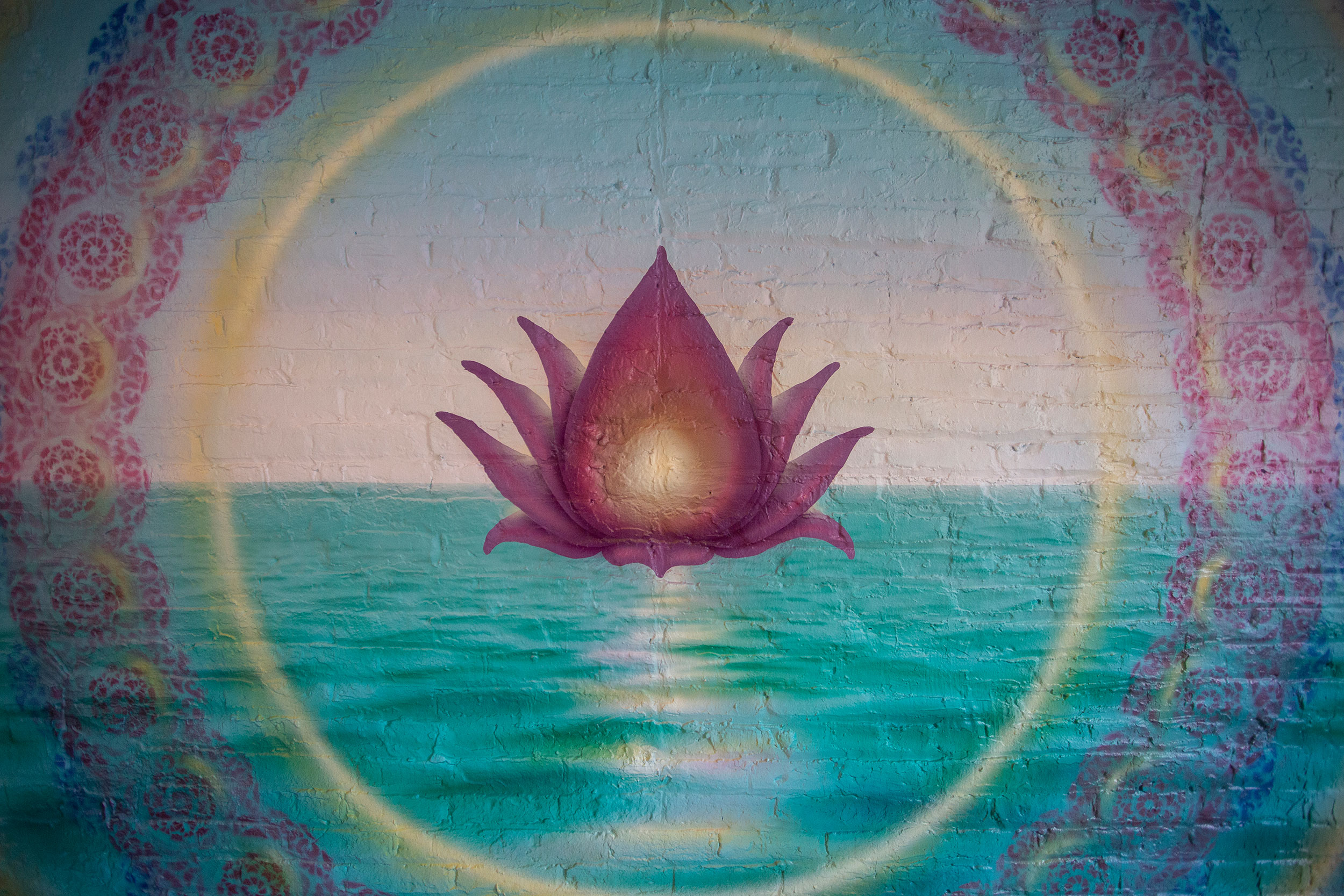 Murals at The Lab yoga studio