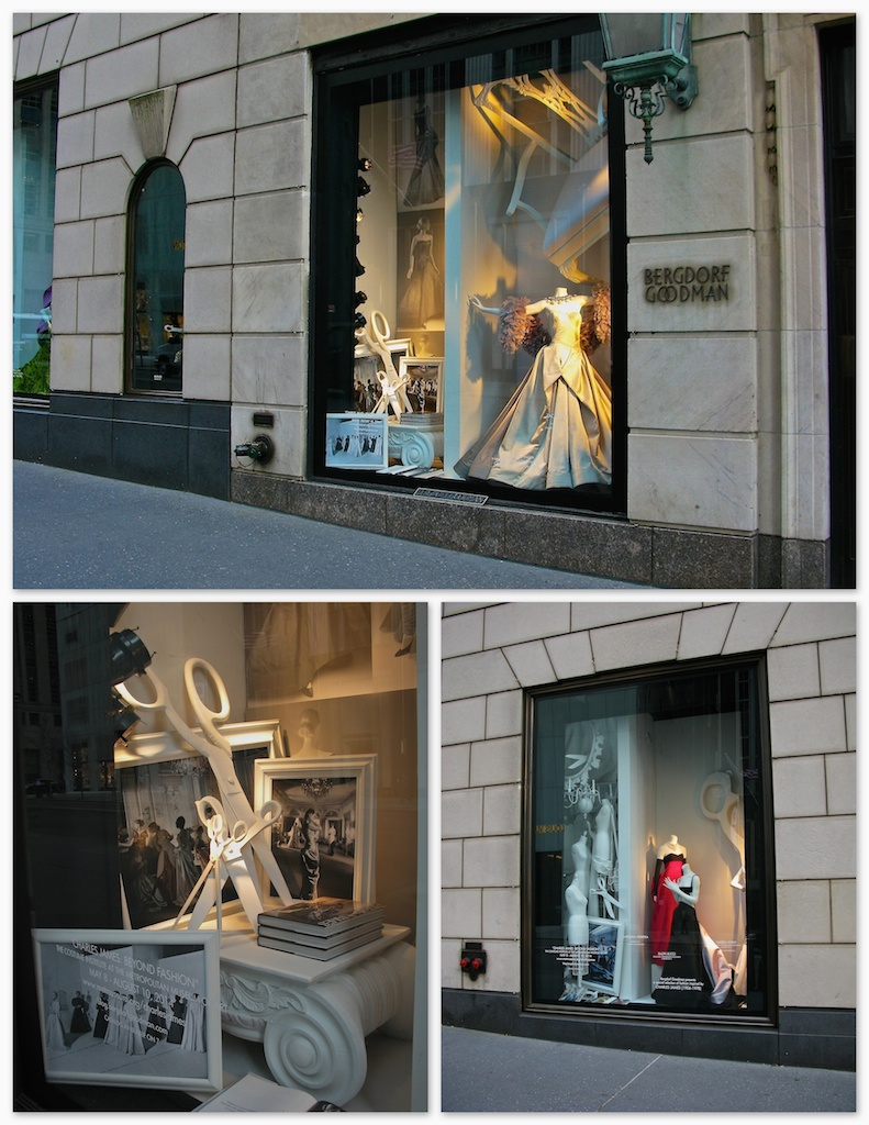 Bergdorf Goodman  did a series of windows to celebrate the  Metropolitan Museum of Art opening of   CHARLES JAMES:     Beyond Fashion.