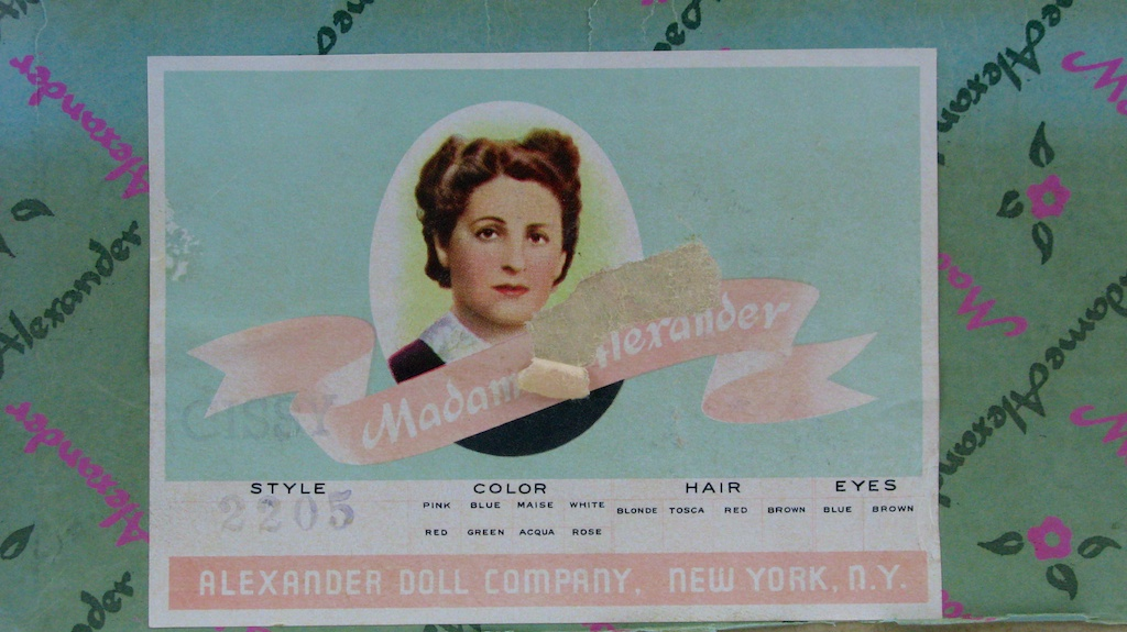 """Cissy No. 2205 Madame Alexander box for """"Yachting"""" of 1958."""
