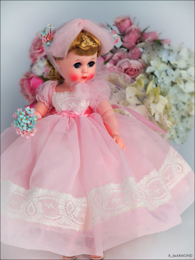 This Lissy Bridesmaid also came in different soft colors and as a boxed outfit. This beautiful Lissy Bridesmaid was also featured at FAO Schwarz.