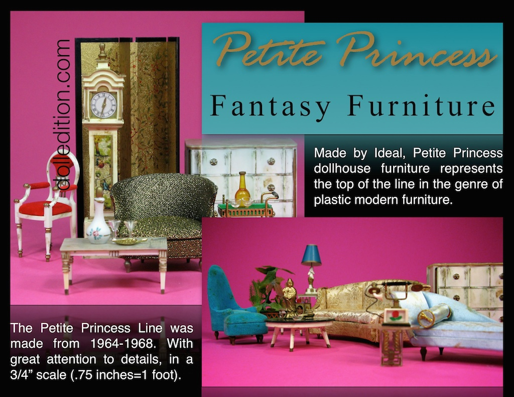 Petite Princess - Highly influnenced by then popular Hollywood Regency in .75 inch Scale
