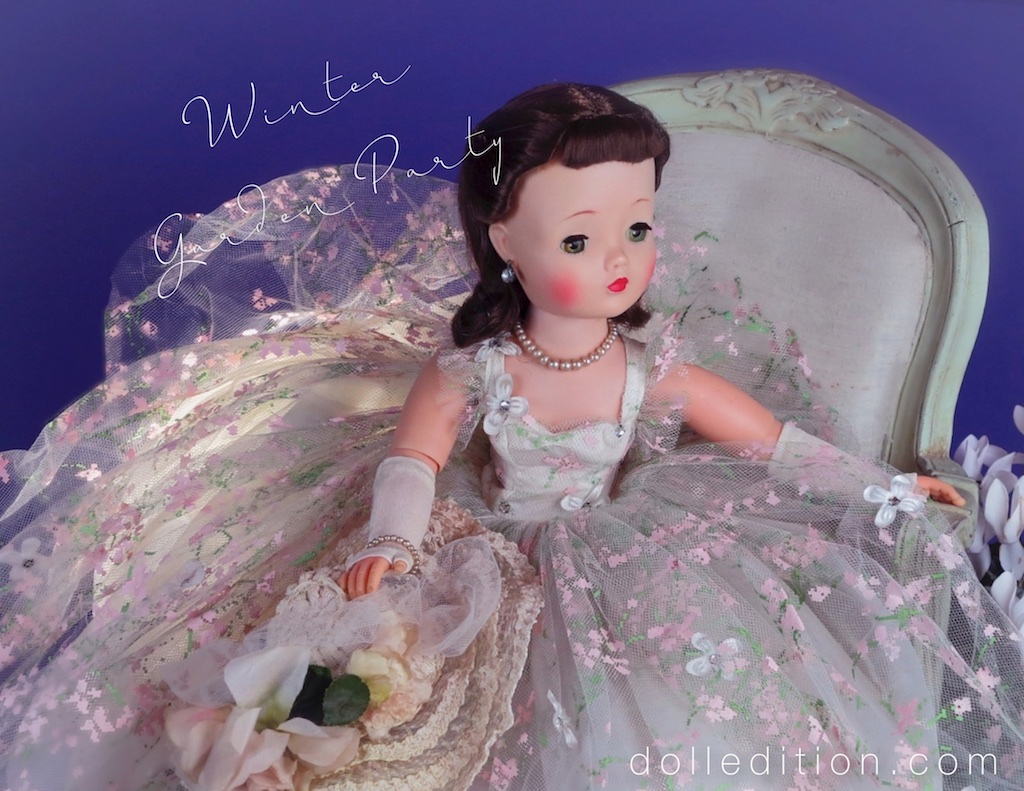 Painted tulle - the most elegant and delegate of mid-century fantasy creations. Often using floral and bird motifs.