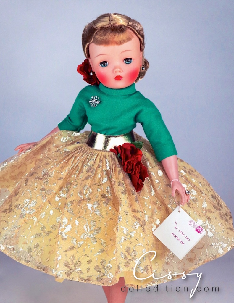 Another feature of the 1959 Cissy was her more enhanced blush and the finer saran now used for her wigs - Barbie may have snuck in to steel the fashion doll crown, but Cissy, bringing on a new level of grangeur,was not done for several more years.