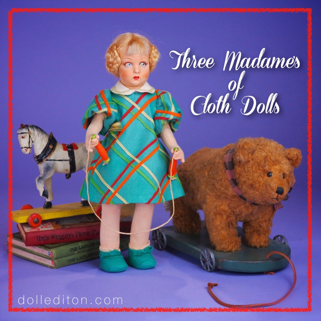 In the 1920s and 1930s, the dolls of Madame Lenci became a design inspiration for Madame Alexander to refine her own flat faced cloth dolls.