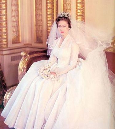 Princess Margaret had the wedding of the year in May of 1960.  Her wedding gown was designed by Royal Family favorite designer Norman Hartnell, who also designed her sister, Elizabeth's wedding dress in 1947.