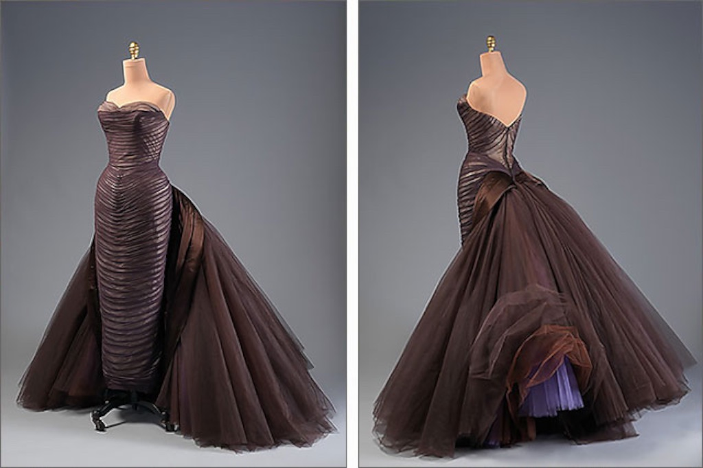 Charles James 1955 Butterfly Gown - it disassembled into several pieces for the convenience of the client.