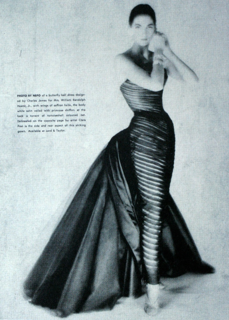 An ad by Lord & Taylor for Charles James Butterfly Gown