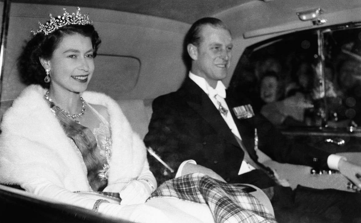 Queen Elizabeth II, with Prince Philip, in this 1955 photo.