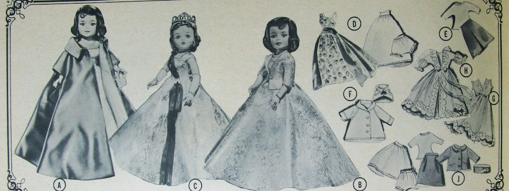 FAO Schwarz shows both the 1962 Cissy Queen and Jacqueline and lists the same clothes available for both dolls.