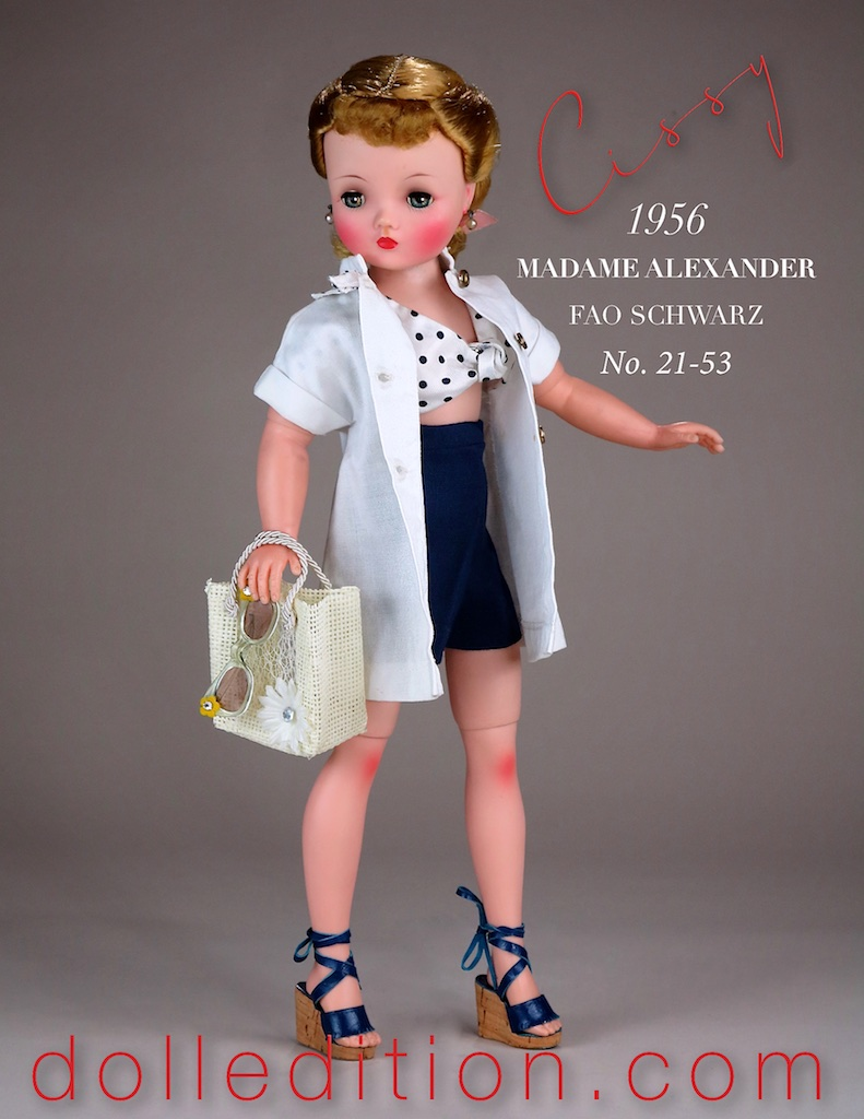 High waisted Bermuda shorts and polka dots - right on mid-1950s fashion trend!