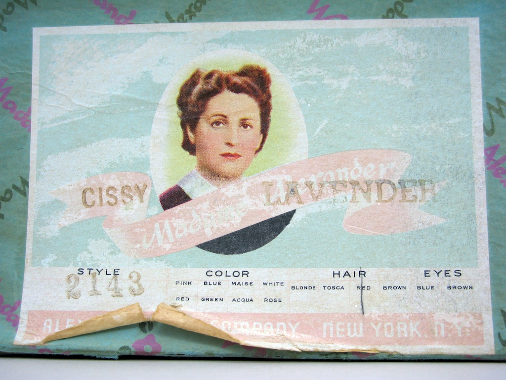 Box lable for this Cissy No. 2143.
