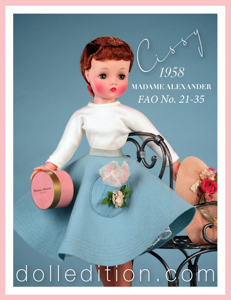 Cissy 1958 felt circle skirt set No. 21-35 from the F. A. O. Schwartz catalog.