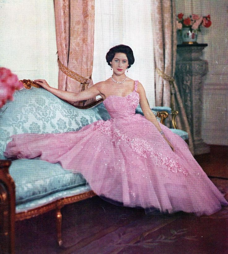 Princess Margaret c. 1953 - Very glamorous herself as a royal celebrity promoted by the world media as a tragic princess in love.
