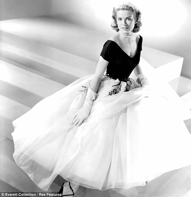 Hollywood embraced the popular mid century ballerina length in fashion for Grace Kelly.
