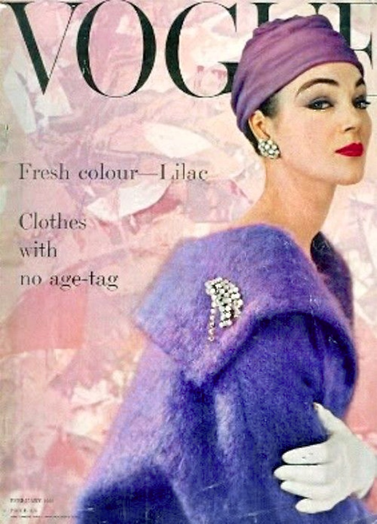 Lilac was a very popular color of mid-century fashion.