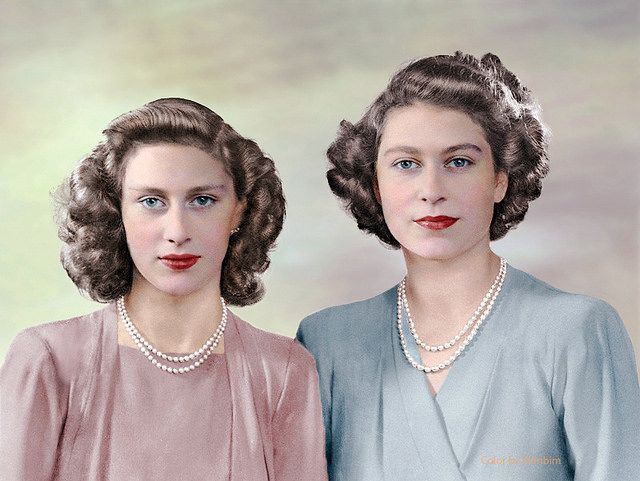 Princess Margaret and her older sister, the future Queen Elizabeth