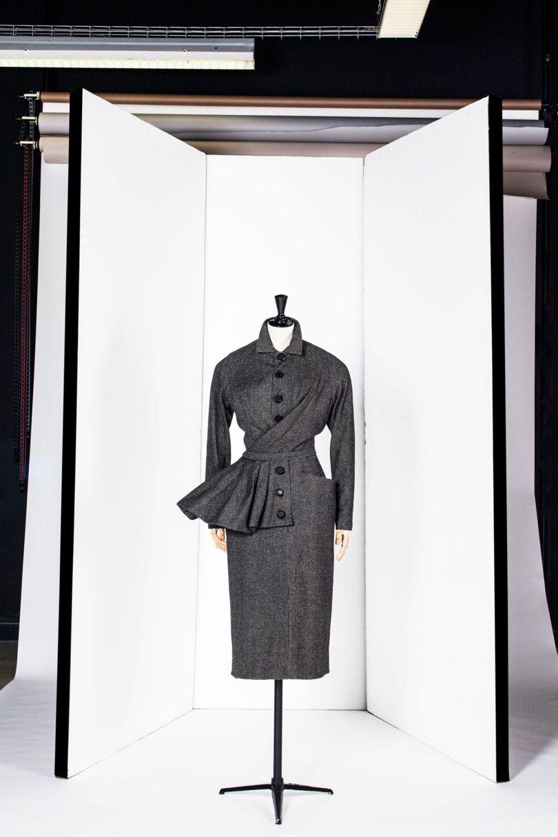 Chirisian Dior side-drape suit