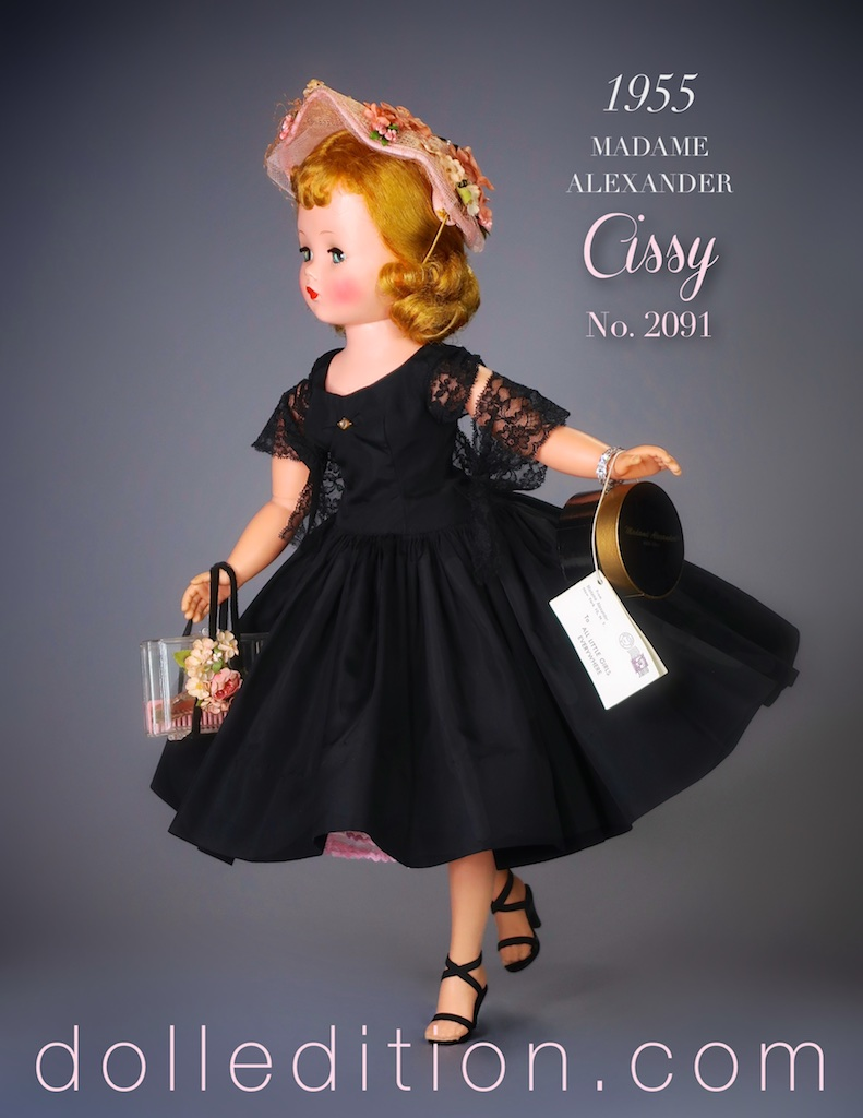 Swooshing through mid-century fashion, the ruffle of taffeta, the click of high heels, a hint of the scent Miss Dior - Cissy has arrived here at dolledition.com in all her vintage glory.
