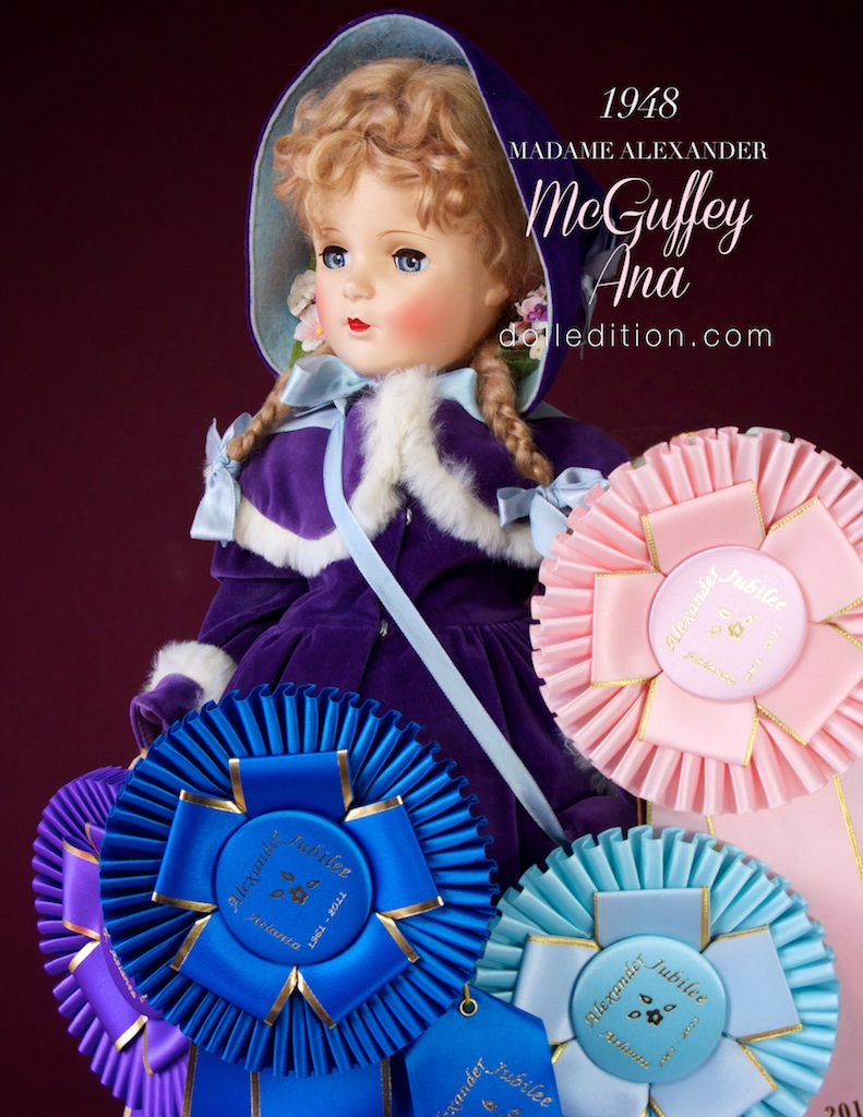 This glorious McGuffey Ana won five ribbons at the 2011 Atlanta Madame Alexander Doll Convention.