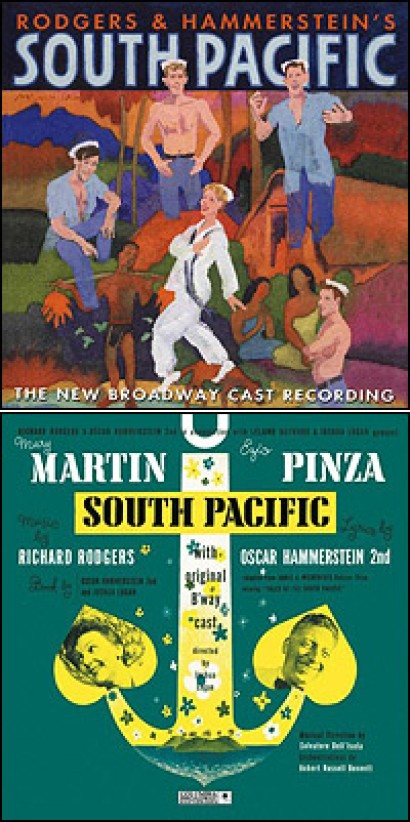 South Pacific is a musical composed by Richard Rodgers, with lyrics by Oscar Hammerstein II and book by Hammerstein and Joshua Logan. The work premiered in 1949 on Broadway and was an immediate hit, running for 1,925 performances.