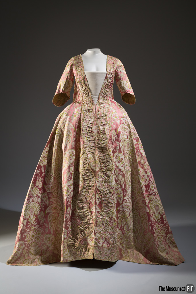 Dress, 18th century, museum purchase.