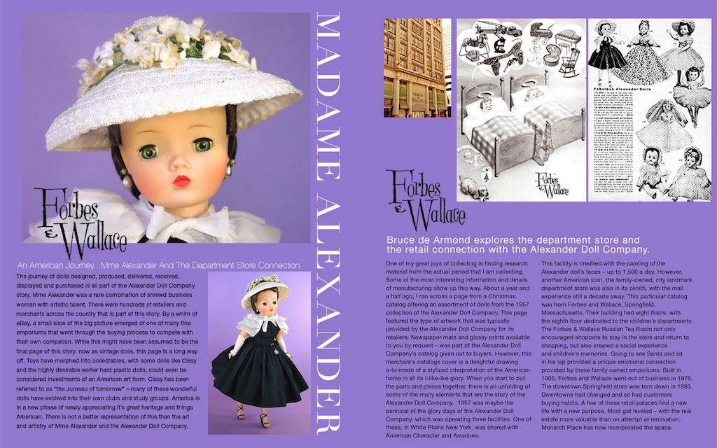 The American Department Store was an important retailer for the dolls of Madame Alexander. Both the department store and the Alexander Doll Company were at their zenith in the 1950s.