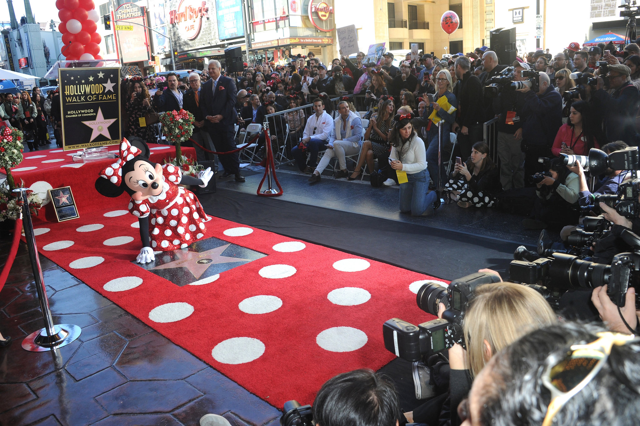 Minnie Mouse got a star on the Hollywood Walk of Fame in January. Mickey got his 40 years ago.CreditAlbert L. Ortega/Getty Images