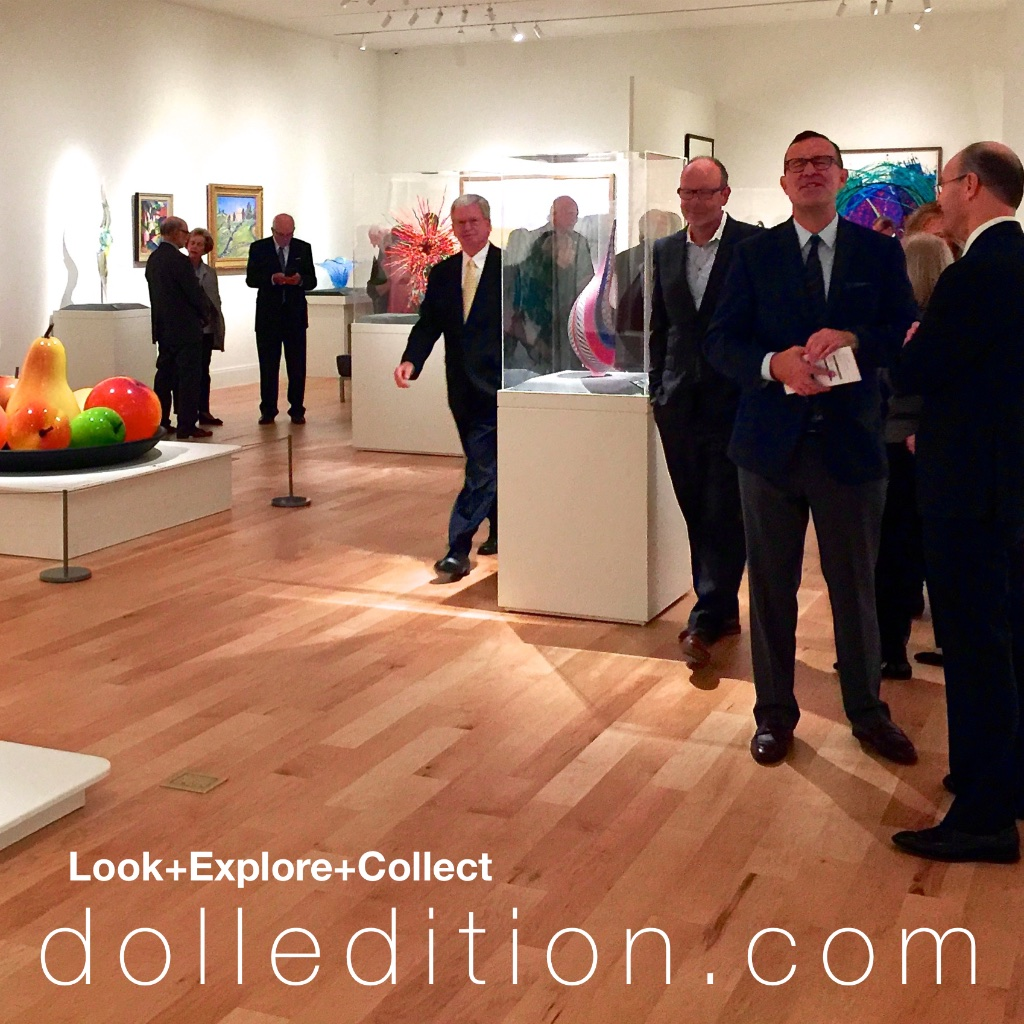 THIRD FROM RIGHT: Stuart Holbrook, President of Theriault's and consultant for the Barry doll collection and gallery.