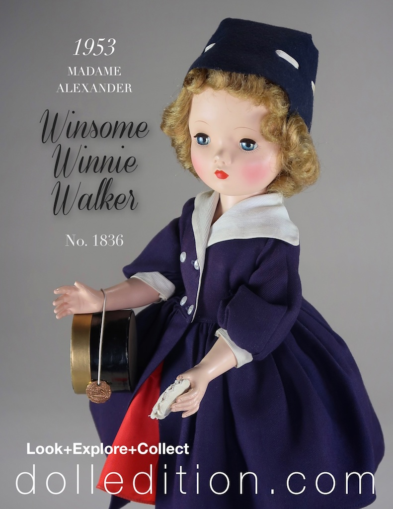 """18"""" Madame Alexander 1953 Winsome Winnie Walker No. 1836"""