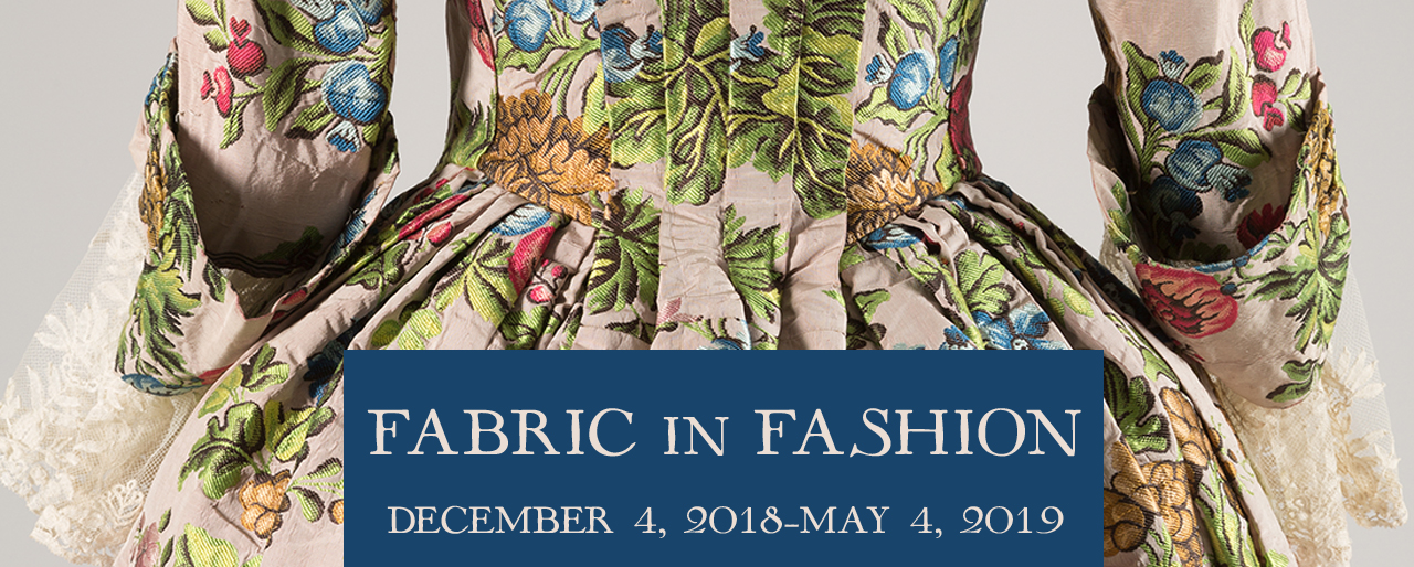 Silk brocaded taffeta robe a l'anglaise circa 1760, England, Museum purchase