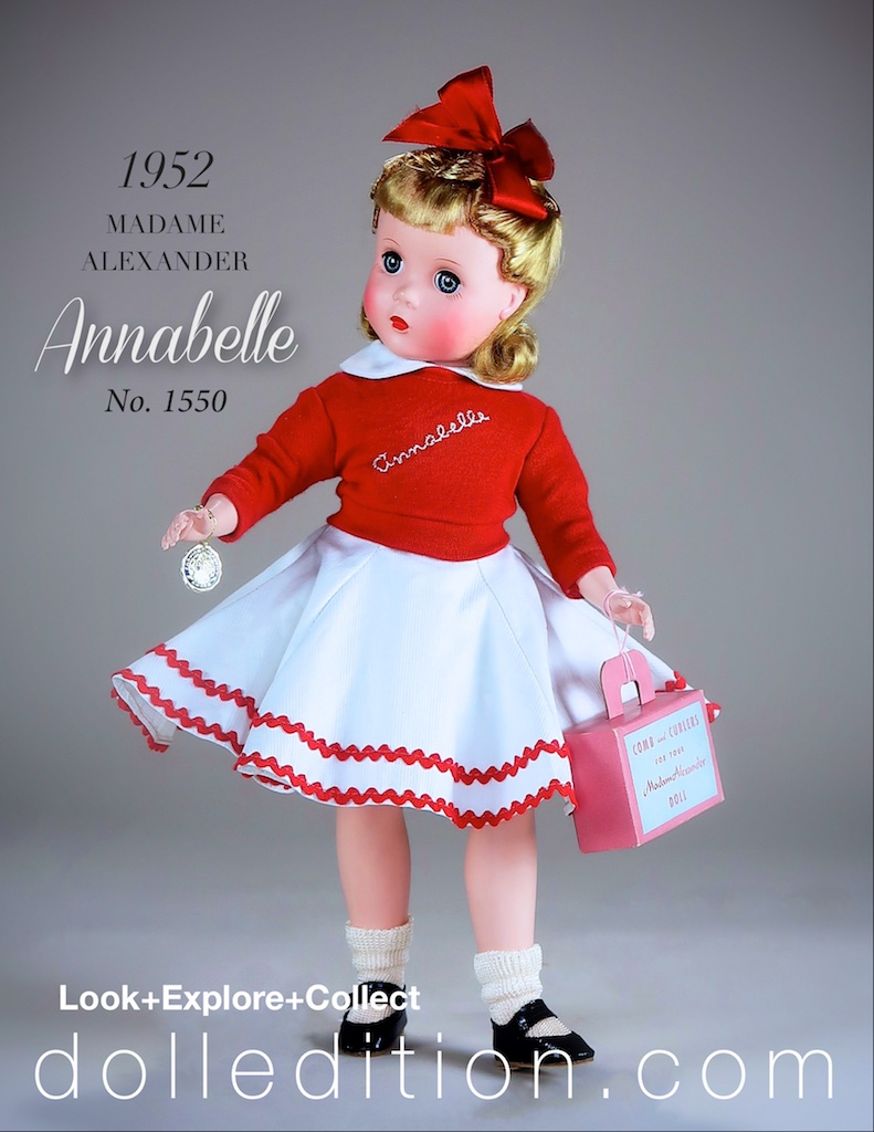 Annabelle the doll takes a number of elements from the books illustration by Bill and Bernard Martin in the Madame Alexander costume design.