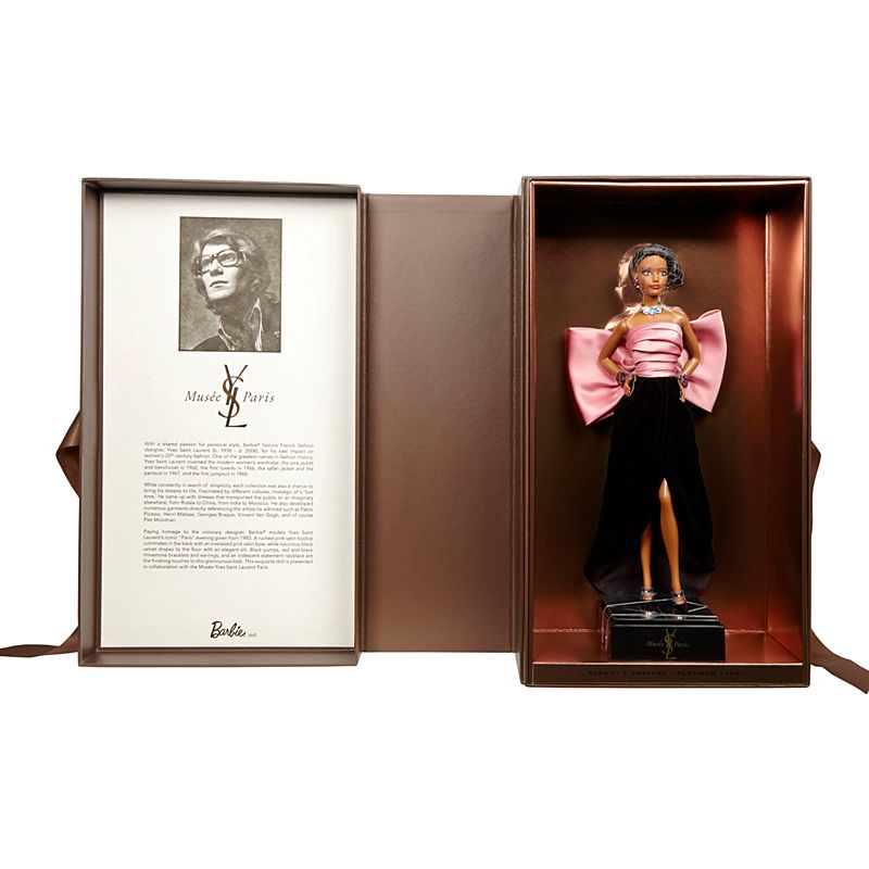 Boxing for Mattel's YSL Barbie series