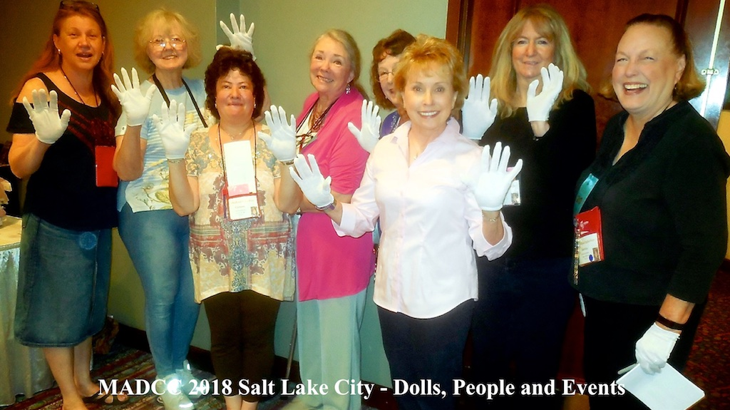 Doll entries in the MADC Competition Room get the white glove treatment… photo by Jeff Oerding