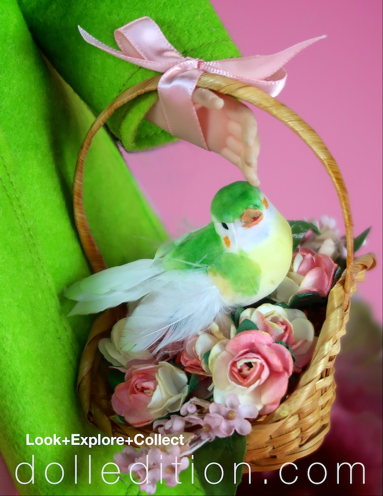 """""""Elise"""" carries her own Easter Fashion Basket to celebrate the promise of a new Spring."""