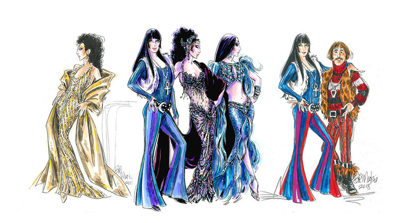 "Costumes for ""Cher"" - the 2019 Broadway musical    https://thechershowbroadway.com"