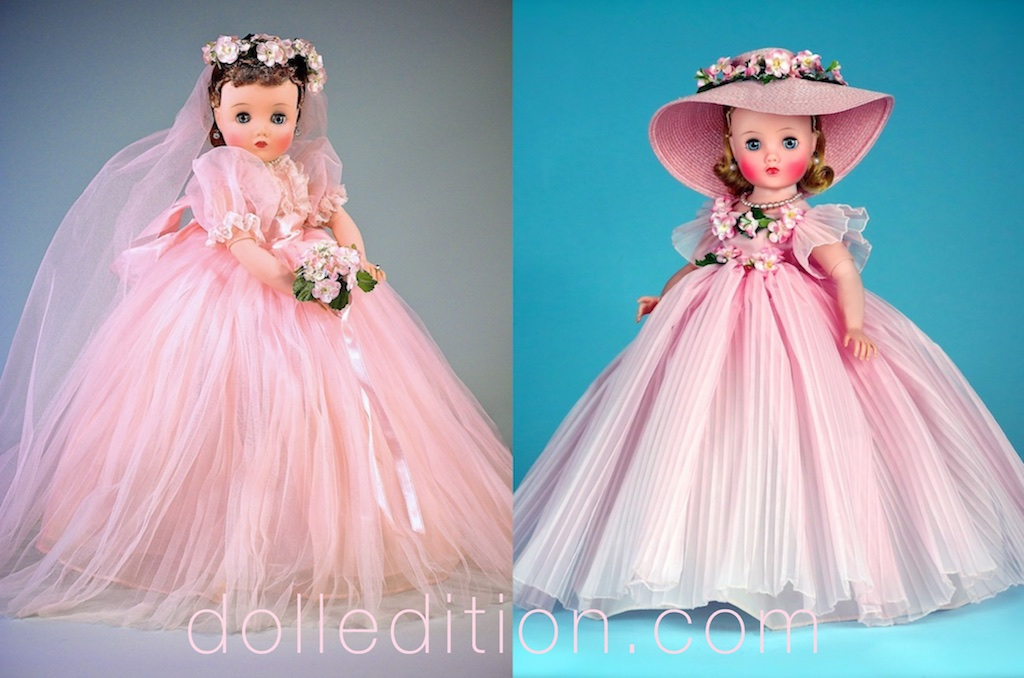 "Pink ""Elise"" 1959 (16.5"") Bride No. 1835 - Pink ""Elise"" 1959 (16.5"") Bridesmaid No. 1830"