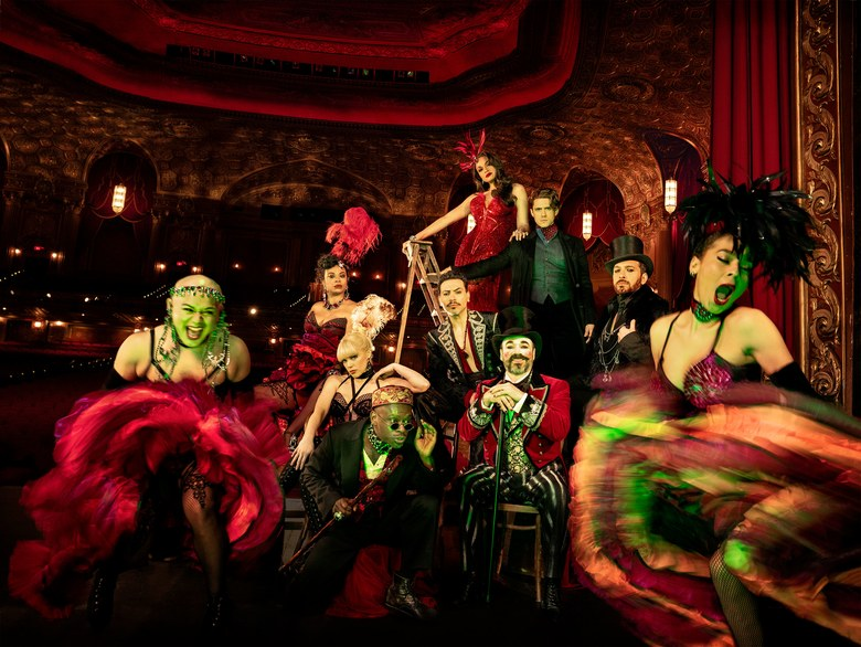 Moulin Rouge!'s Broadway cast, photographed at Kings Theatre in Brooklyn.