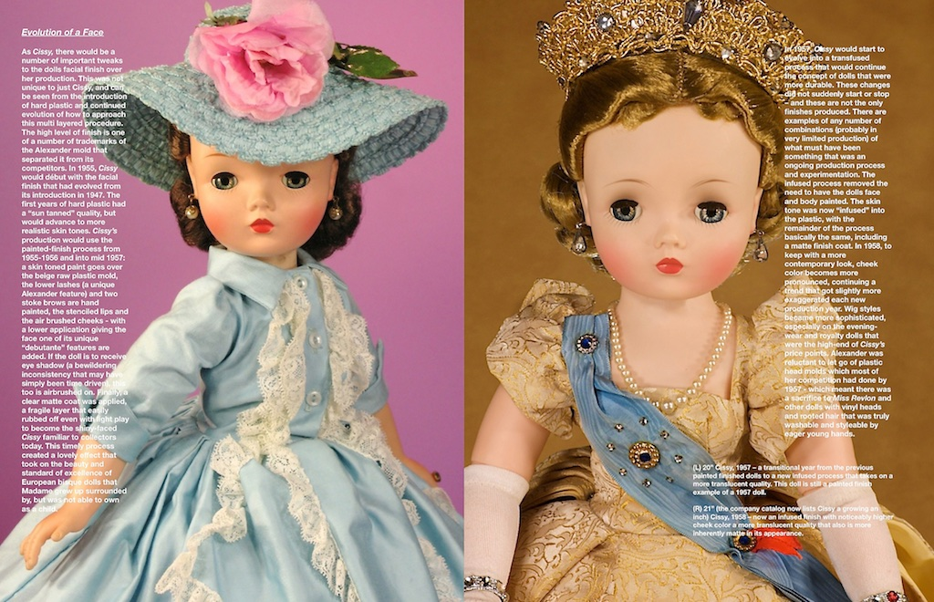 """Both of these dolls have exceptionally beautiful hairstyles. The supplier of the wigs for Madame Alexander really was an expert at capturing the nuance of hairstyles within their range of wigs for """"Cissy."""""""