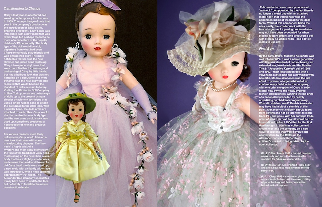 """The reason the """"presses stopped"""" was the gorgeous 1958 """"Cissy"""" No. 2282 painted tulle came into my life. I wanted somehow to fit her into what was at the time, a finished article. Somewhere, somehow, along the process, buttons got pushed, and in a blink of an eye, it all disappeared never to be seen again. Plan B was now the only option to make the deadline."""